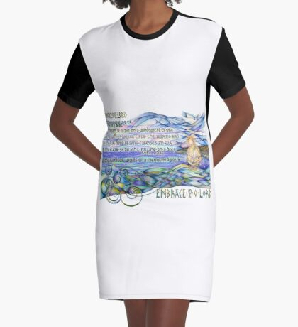 As The Touch Graphic T-Shirt Dress