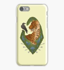 TIGER AND THE CROW - BRIGHT iPhone Case/Skin