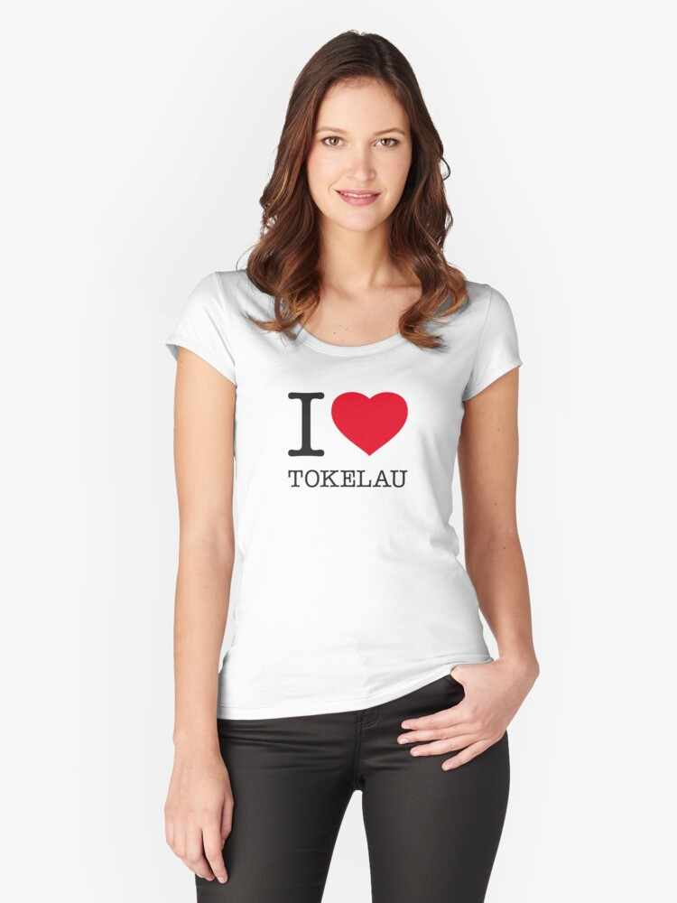 I ♥ TOKELAU Women's Fitted Scoop T-Shirt Front