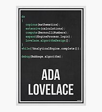 ADA LOVELACE - Women in Science Wall Art Photographic Print