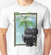 Los Angeles Film Camera travel poster print. Unisex T-Shirt
