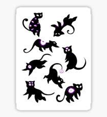 Floating kittens Sticker