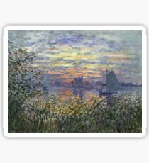 Claude Monet - Marine View With A Sunset 1875 Sticker