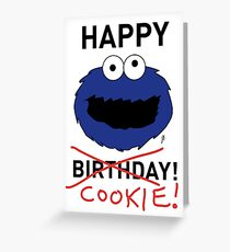 COOKIE MONSTER BIRTHDAY CARD Greeting Card