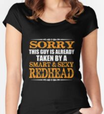 This guy is already taken by a smart and sexy redhead Women's Fitted Scoop T-Shirt