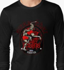 Muay Thai Fighter Long Sleeve T-Shirt