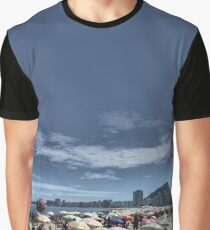 Copacabana Beach: Umbrella Heaven, Rio de Janeiro Graphic T-Shirt