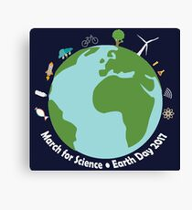 March for Science Earth  Canvas Print