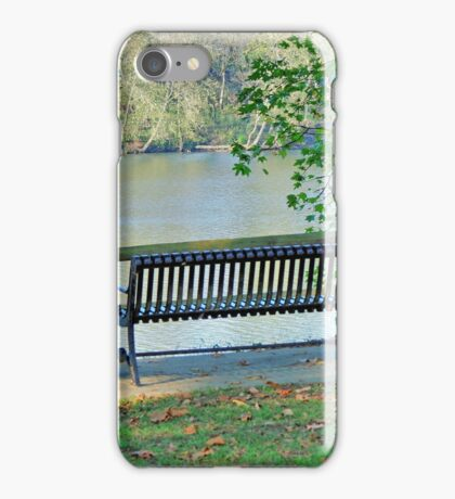 Sitting By The River iPhone Case/Skin