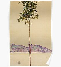 Egon Schiele - Little Tree Chestnut Tree At Lake Constance 1912 Poster
