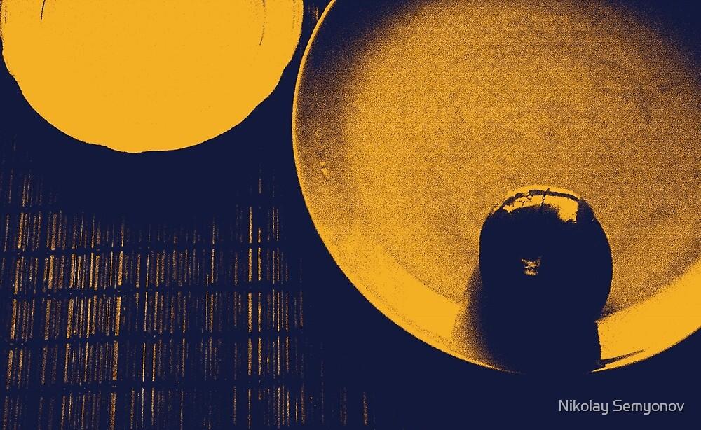 plates and foods two by Nikolay Semyonov