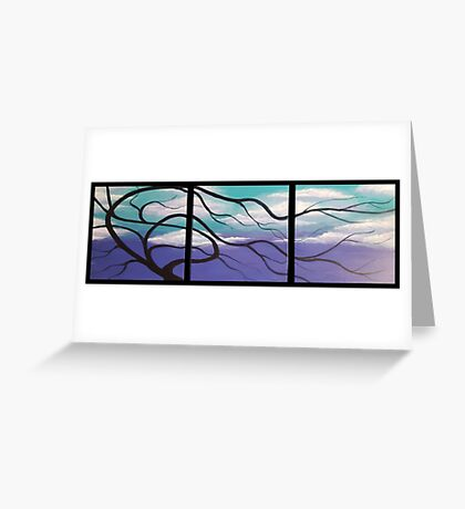 WINTER TREE TRIPTYCH Greeting Card