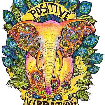 Elephant Good Vibes by boyinkus