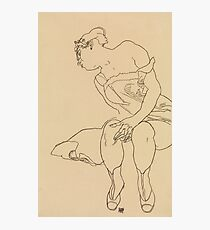 Egon Schiele - Seated Woman In Corset And Boots Photographic Print