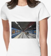 Stockholm Metro Duvbo Station Women's Fitted T-Shirt