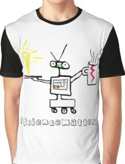 Science Matters Robot Graphic T-Shirt