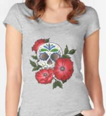 Calavera Anemone Women's Fitted Scoop T-Shirt