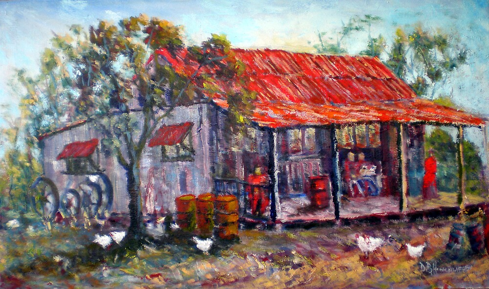 Old Red Roofed cottage by David Hinchliffe
