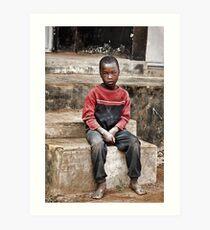Ugandan Boy Art Print