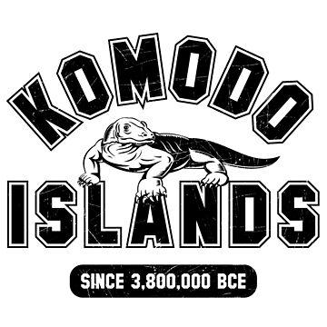 Komodo Islands Varsity Distressed Black by noroads