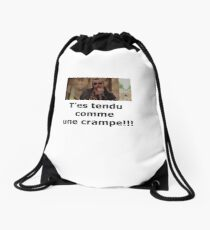 Tense like a cramp !! Drawstring Bag