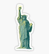 PERSIST - Lady Liberty Flaming Fist Sticker