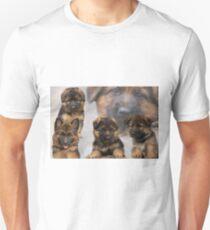 German Shepherd Puppy Collage Unisex T-Shirt
