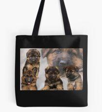 Schäferhund Welpen Collage Tasche