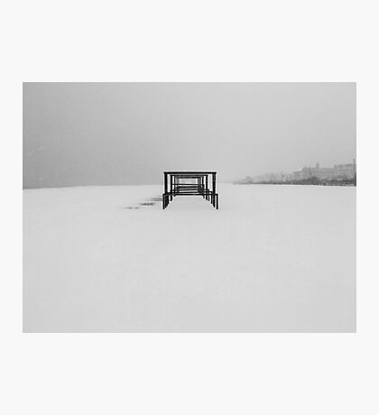 Snow Cabanas Photographic Print