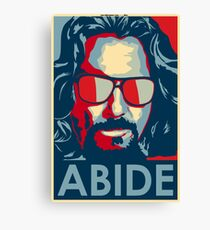 Abide - The Dude Tee T-Shirt Canvas Print