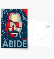 Abide - The Dude Tee T-Shirt Postcards