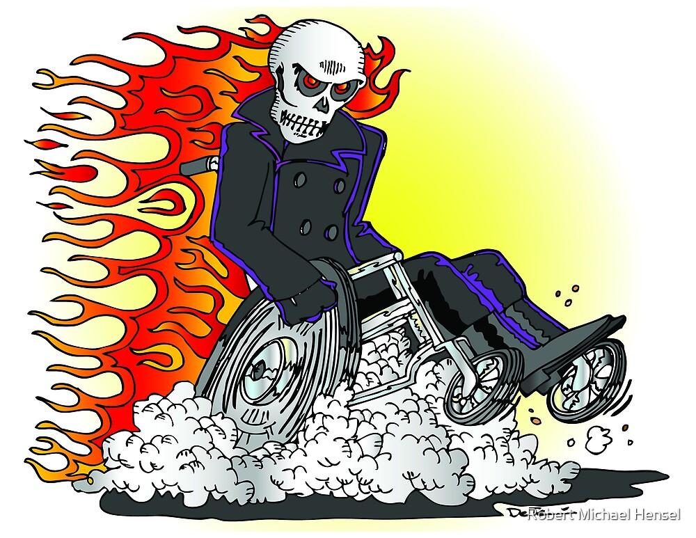 Wheelie Rider by Robert Michael Hensel