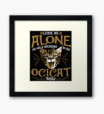 Ocicat Cat Pet Animal Framed Print