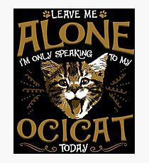 Ocicat Cat Pet Animal Photographic Print