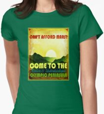 Come to the Olympic Peninsula Womens Fitted T-Shirt