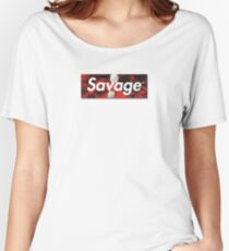 21 Savage Supreme Logo Women's Relaxed Fit T-Shirt