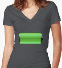 Drake Charged Up Women's Fitted V-Neck T-Shirt