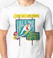 Hale'iwa North Shore Sign - MAN / DRAWING   Unisex T-Shirt