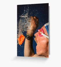Waterburst Greeting Card
