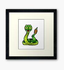 Green Rattle Snake Framed Print