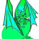 Green Lizard of Flames  by Rayjun