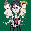 Punk Rock Caricature Drawing von MMPhotographyUK