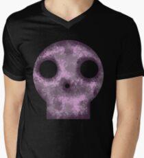 Purple Skull Decay Men's V-Neck T-Shirt