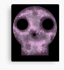 Purple Skull Decay Canvas Print
