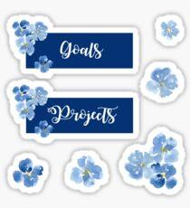 Pegatina Conjunto de pegatinas de objetivos y proyectos