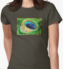Peacock Feather Womens Fitted T-Shirt