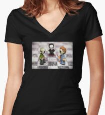 Horror Game Women's Fitted V-Neck T-Shirt