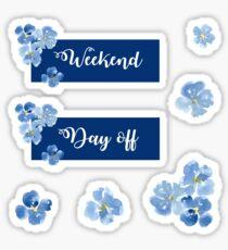 Pegatina Conjunto de adhesivo de fin de semana y día