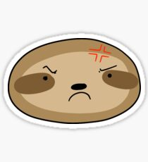 Angry Sloth Face Sticker