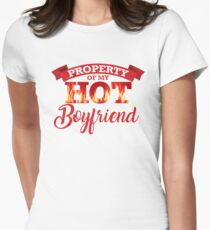 Property of My Hot Boyfriend Womens Fitted T-Shirt